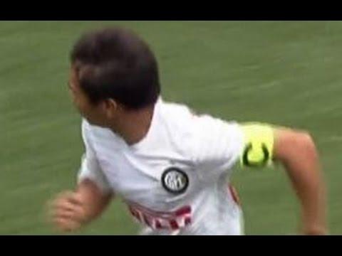 長友佑都タッチ集 1ゴールVSローマ Nagatomo VS Roma 2014年8月2日