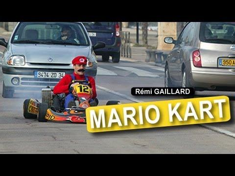 【海外動画】公道でリアルマリオカートやってるおっさんが面白いwww【レミ・ガイヤール】