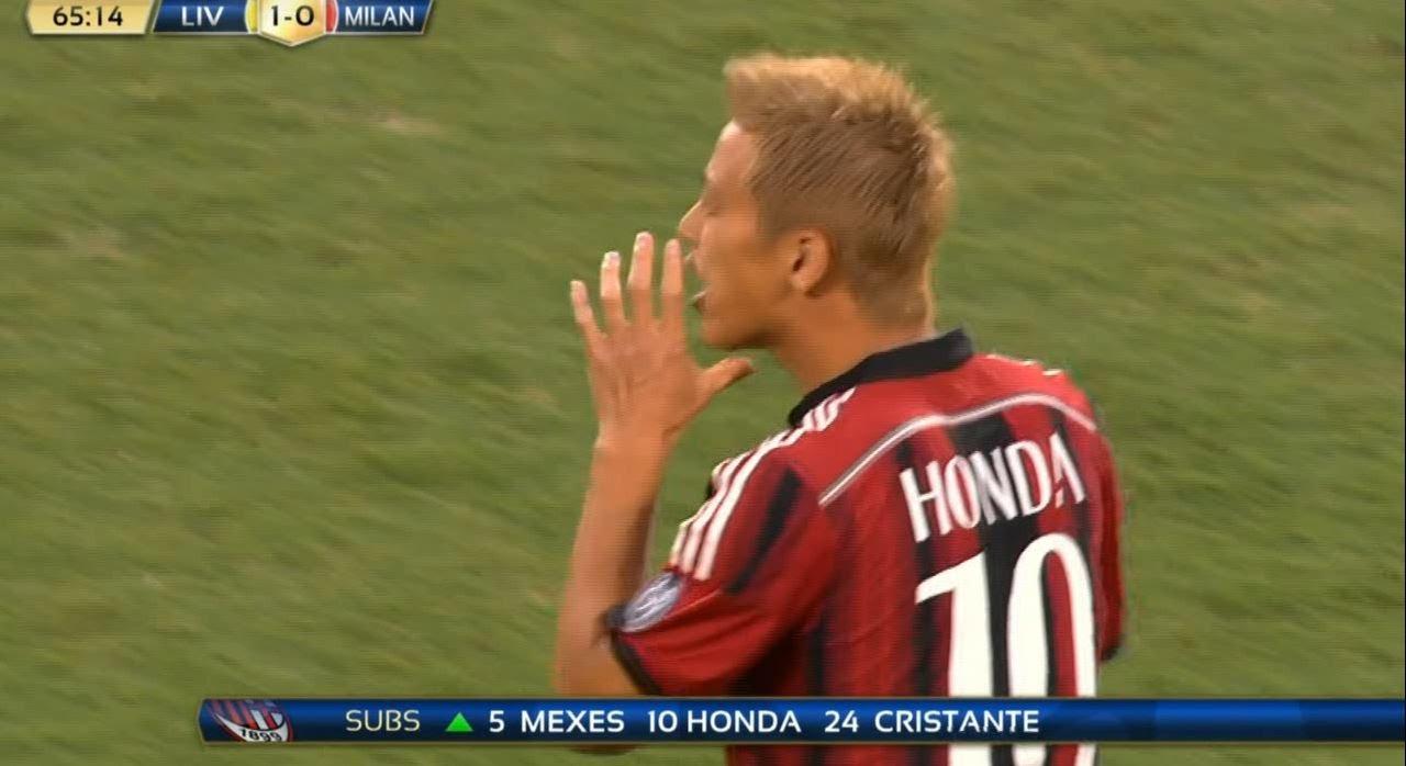 本田圭佑タッチ集 VSリヴァプール Honda VS Liverpool 2014年8月2日