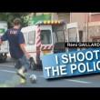 【海外動画】警察にシュートして逃げるおっさんwww